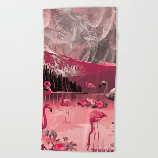 Flamingo Land Beach Towel