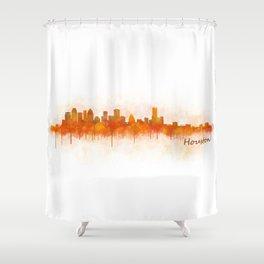 Houston City Skyline Hq v3 Shower Curtain
