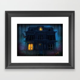 The Haunted Motel by Topher Adam 2017 Framed Art Print