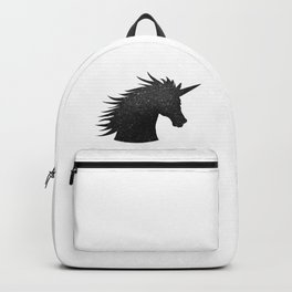 Black Glitter Unicorn Backpack