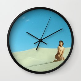 in the still sands of leave Wall Clock