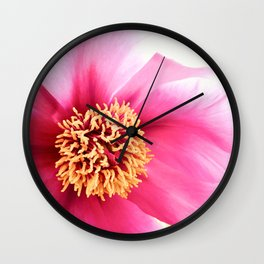 Altered Peony Wall Clock