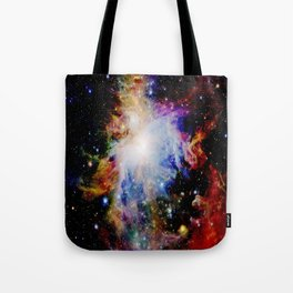 GaLaXY : Orion Nebula Dark & Colorful Tote Bag