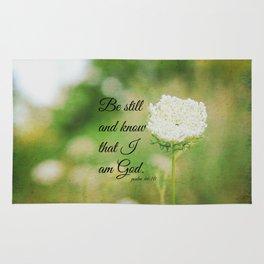 Psalm 46:10 Be Still Rug