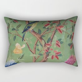Green Dream Chinoiserie Rectangular Pillow