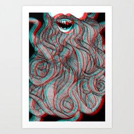 Pogonophobia Art Print