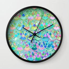 Art Deco Watercolor Patchwork Pattern 1 Wall Clock