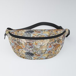 Big Cat Collage Fanny Pack