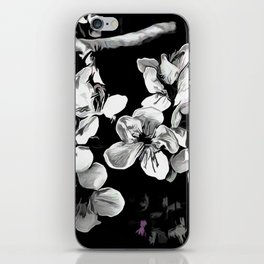 Spring Time Blossoms In Black And White iPhone Skin