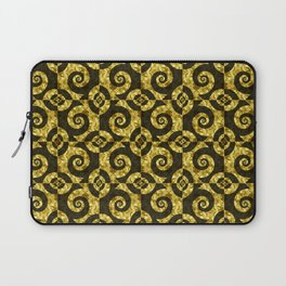 Black and gold Spirals Laptop Sleeve