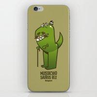 Mustachio Saurus Rex iPhone & iPod Skin