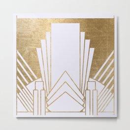 Art Deco design - blonde Metal Print