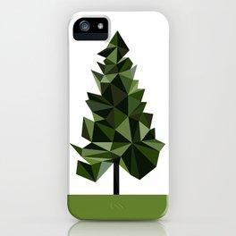 Poly geometric trees iPhone Case