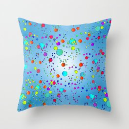 Colorful bubbles 228 Throw Pillow