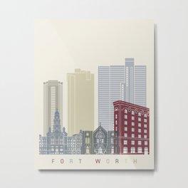 Fort Worth skyline poster Metal Print