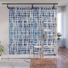 Shibori Braid Vivid Indigo Blue and White Wall Mural