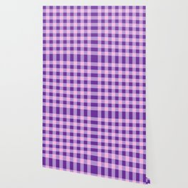Purple and Pink Check Wallpaper