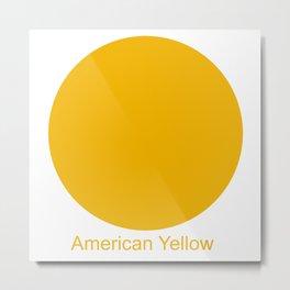 American Yellow Metal Print