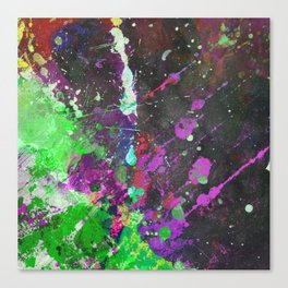 Breakthrough - Multi Coloured Abstract Textured Painting Canvas Print