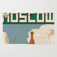 moscow Area & Throw Rugs featuring Moscow  by Nick's Emporium Gallery