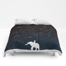 Falling star constellation Comforters