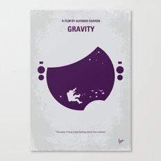 No269 My Gravity minimal movie poster Canvas Print