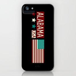 Patriotic Colors: Alabama iPhone Case