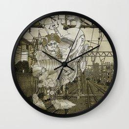 Steampunk Pirate Samurai Riding Iron Horse Wall Clock