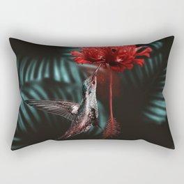 Hummingbird Poster Rectangular Pillow