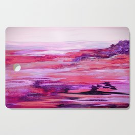 Nevada Abstract Landscape in Purple Cutting Board