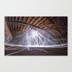 lighting with lightning  Canvas Print