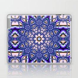 Kaleidoscope flower in purple, pink, blue and salmon. Laptop & iPad Skin