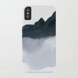 mountain scape minimal iPhone Case