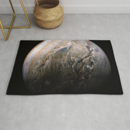 Planet Jupiter Deep Space Probe Telescopic Photograph No. 3 Rug