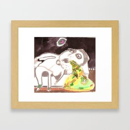 drinking too much alcohol -2- Framed Art Print