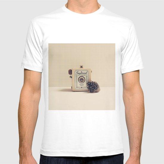 Retro Camera and Pine Cone T-shirt