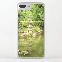 Pond at the Japanese Tea Garden in San Francisco Clear iPhone Case