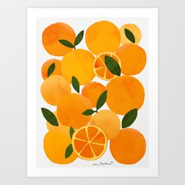 mediterranean oranges still life  Art Print