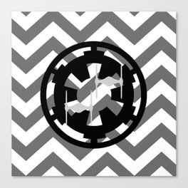 Star Wars Imperial Cog and Tie Fighters Chevrons Canvas Print