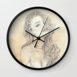 Pink Lily  Wall Clock