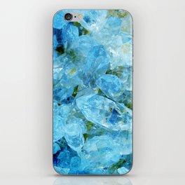 Aqua Blue Geode Crystal iPhone Skin
