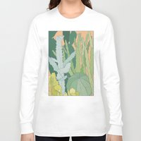 cacti Long Sleeve T-shirts featuring Cacti by Julia Walters Illustration