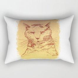 Bored cat Rectangular Pillow
