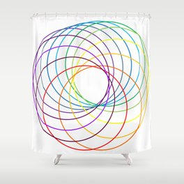 Spiranbow Graph Shower Curtain