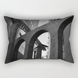 Overlapping Architecture Textures Black and White Rectangular Pillow