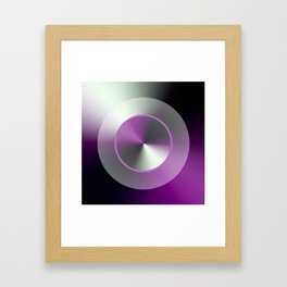 Serene Simple Hub Cap in Purple Framed Art Print