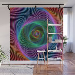 Psychedelic Spiral Stripes Wall Mural