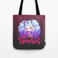 barachan Tote Bags featuring tsundere by barachan