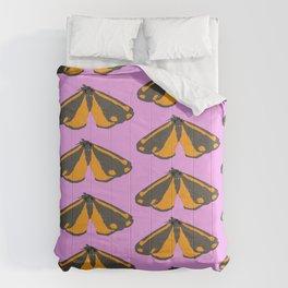 Moth Pop Pink Comforters
