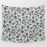 bugs Wall Tapestries featuring Essaim   Bugs by Craig Fellows - Designer   Printer   Mak